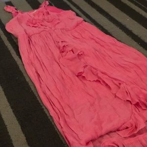 Pink dress with ruffles M(10/12)